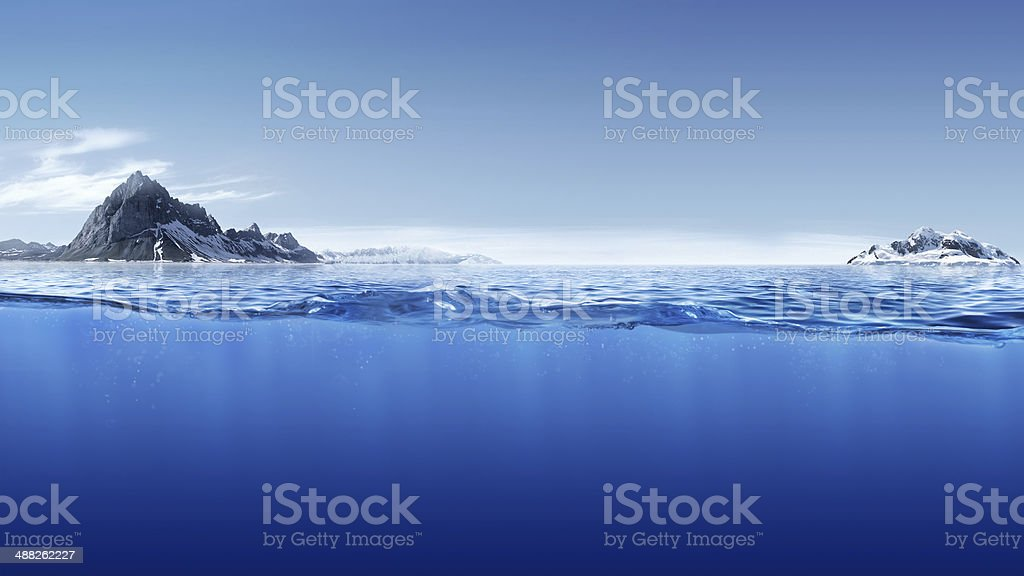 Blue waterline royalty-free stock photo