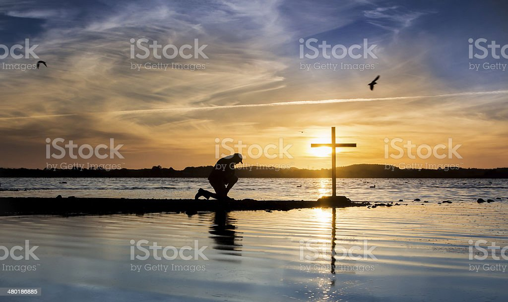 Blue Waters Cross stock photo
