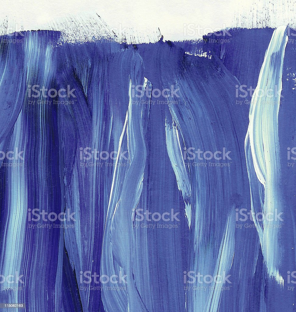 blue wave brush strokes stock photo
