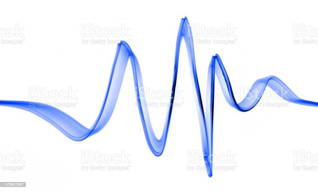 Blue Wave on White stock photo