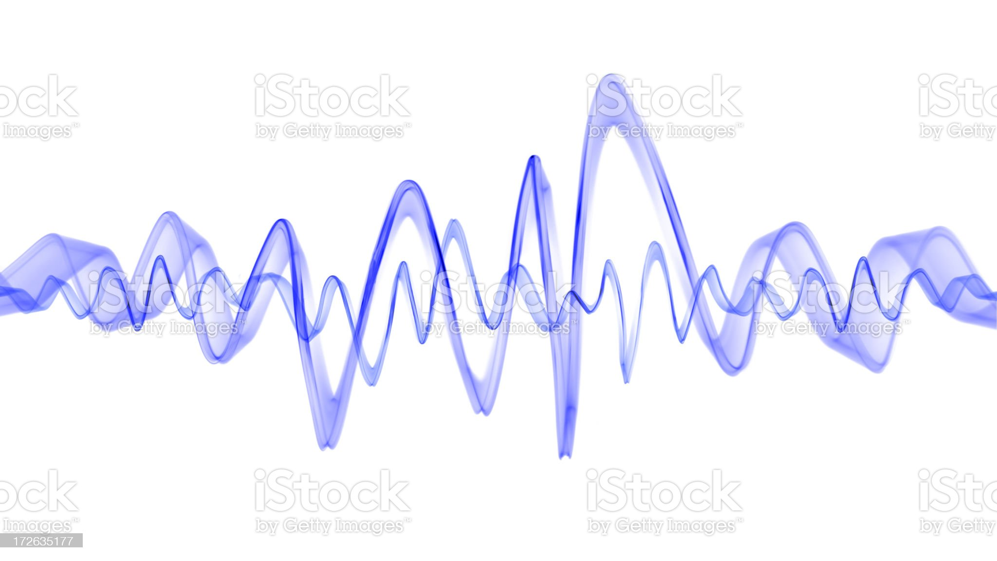 Blue Waveform royalty-free stock photo