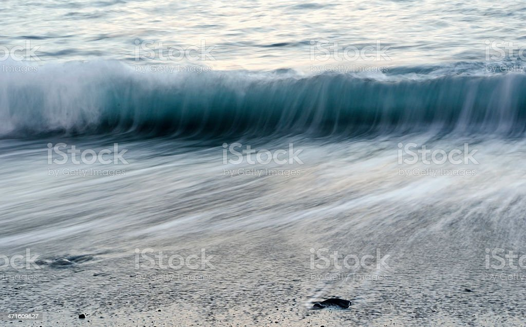 Blue Waves in Motion royalty-free stock photo