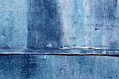 Blue weathered metal sheet texture.