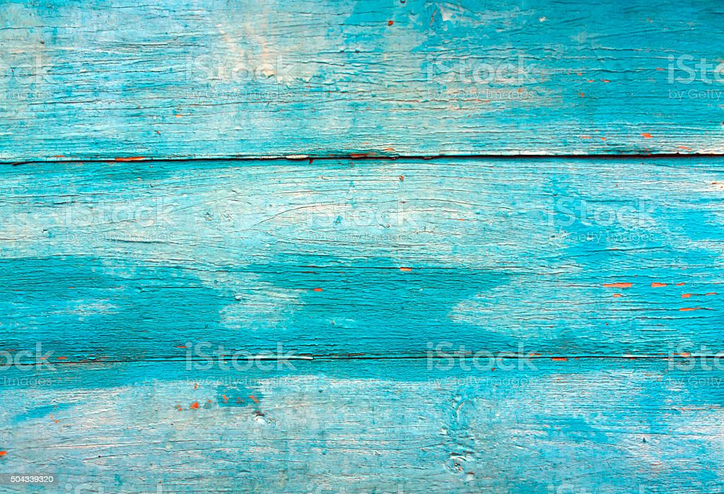 Blue weathered wooden wall texture. stock photo