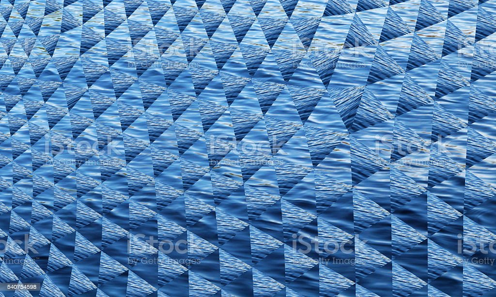 Blue White Abstract Geometric Waves Pattern Technology Background stock photo