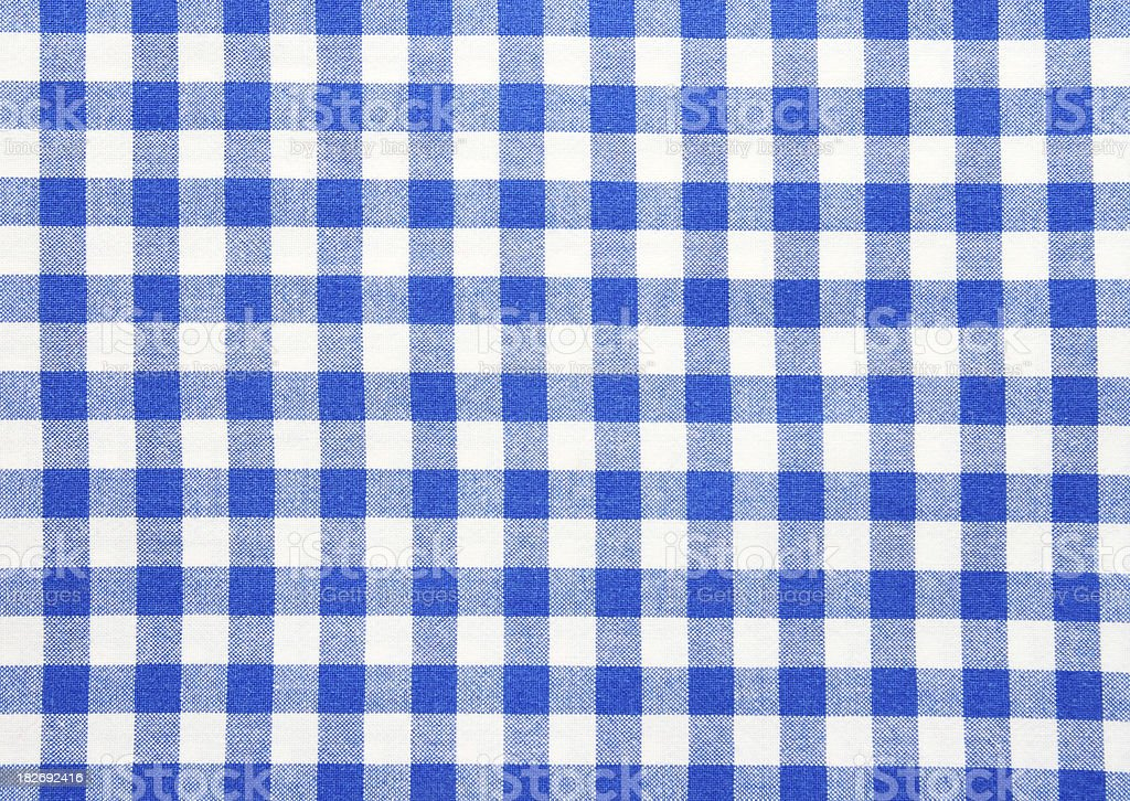 Blue White checked Textile Background and Texture royalty-free stock photo