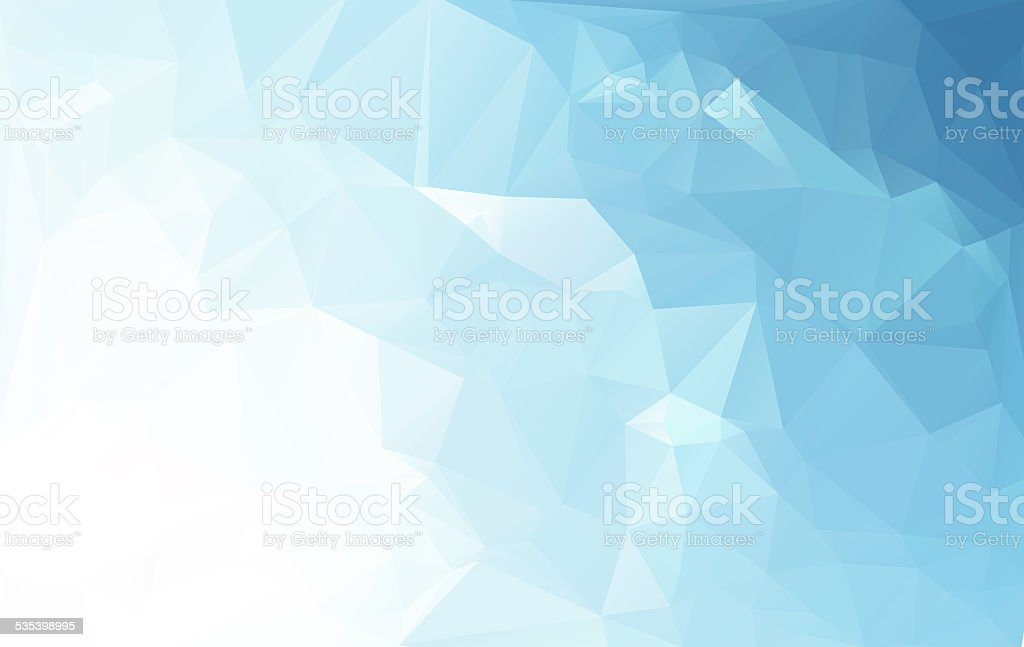 Blue White Light Polygonal Mosaic Background,    Business Design Templates stock photo