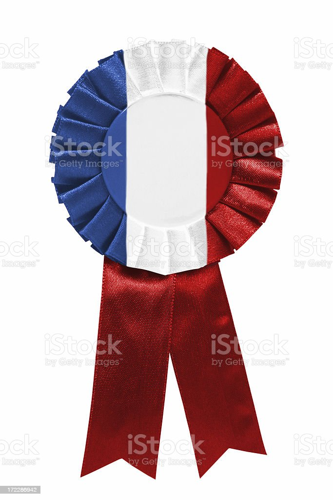 Blue white red ribbon royalty-free stock photo