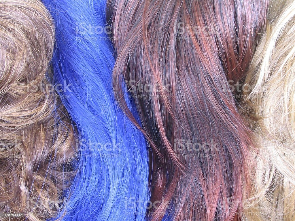 Blue Wig Standing Out royalty-free stock photo