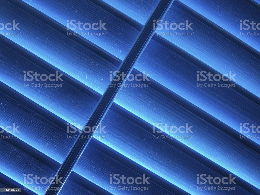 Blue window shutter royalty-free stock photo