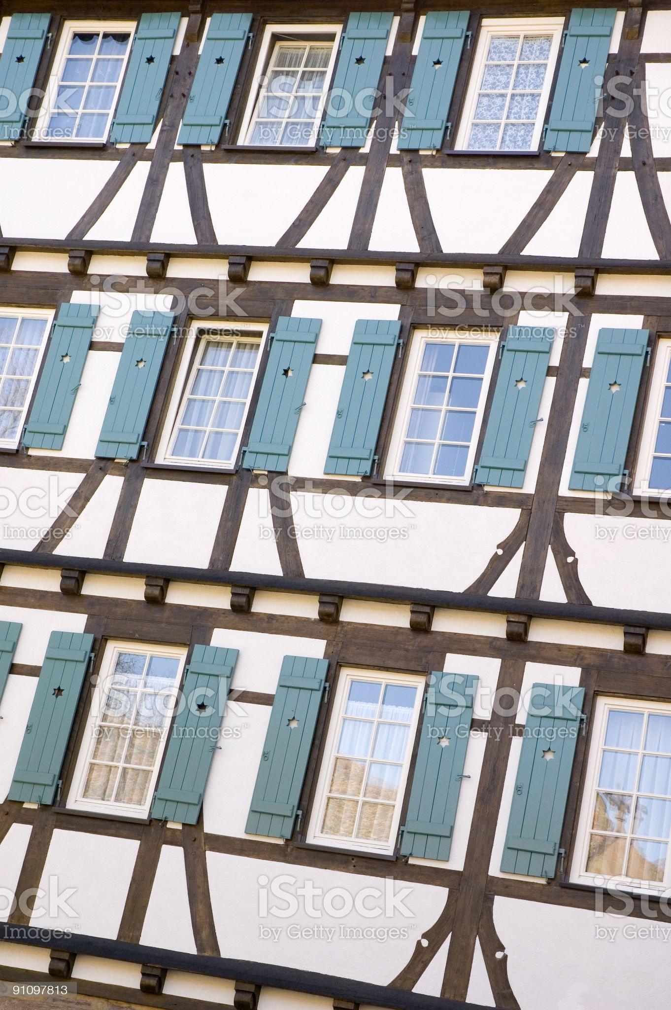 Blue Windows royalty-free stock photo