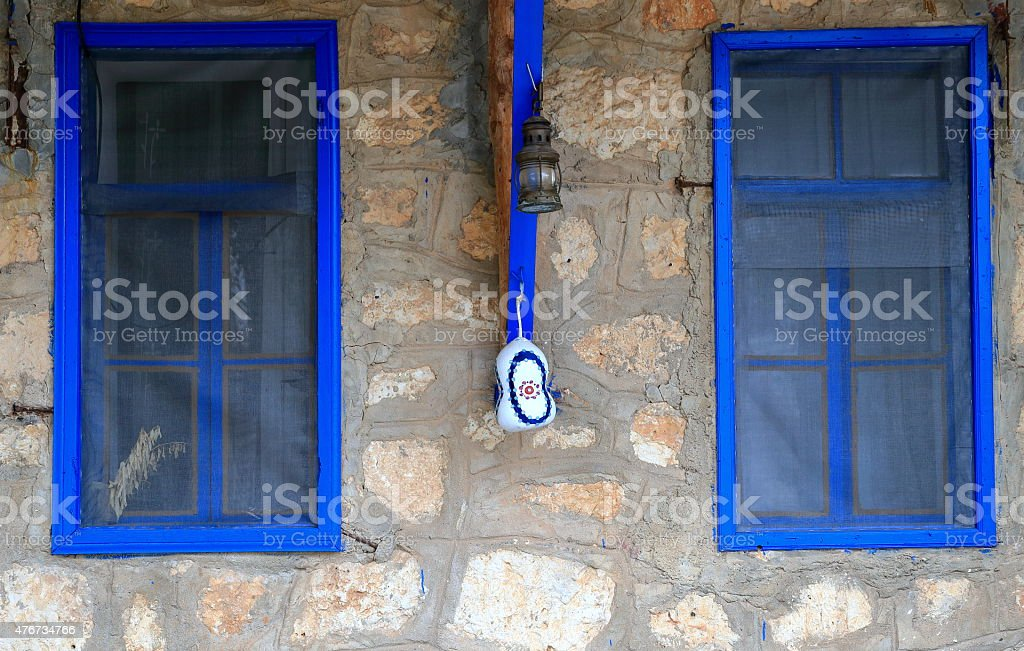 Blue windows-Ucagiz stock photo