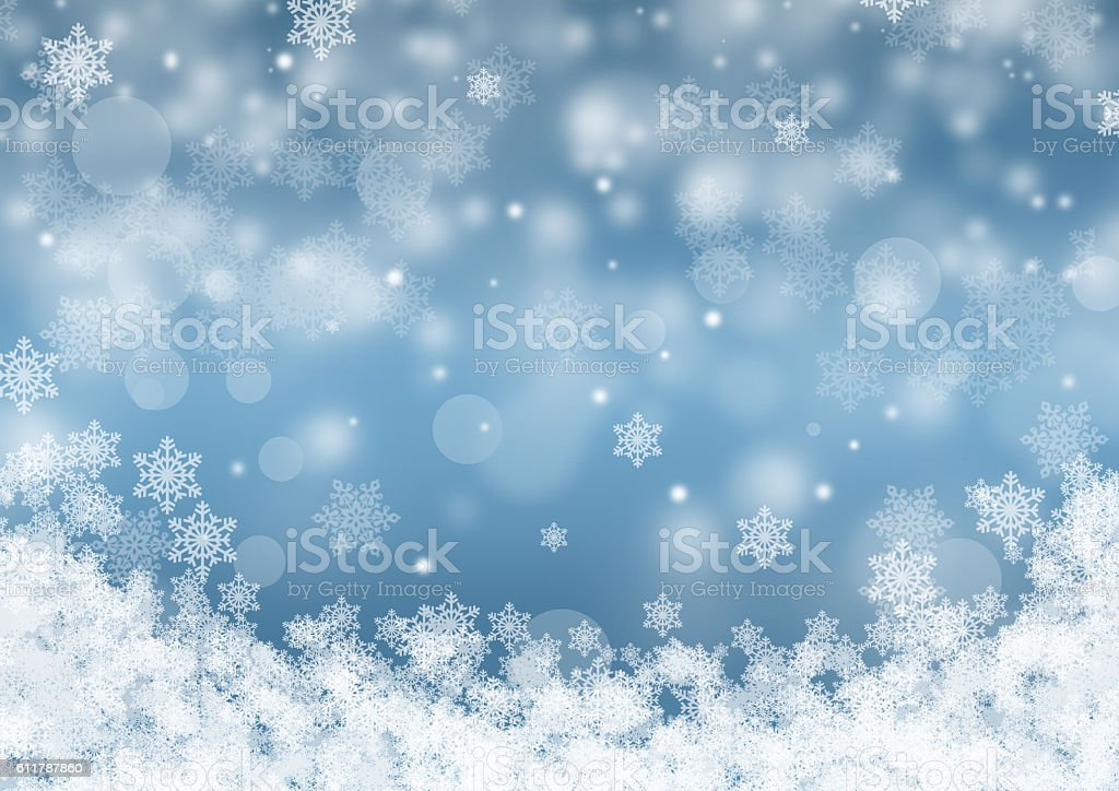 Blue winter background stock photo