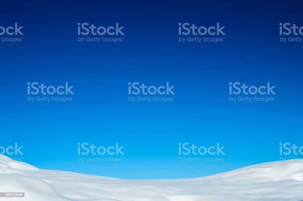 Blue Winter Background with Snow stock photo