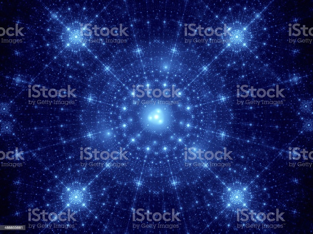 Blue winter fractal background royalty-free stock photo