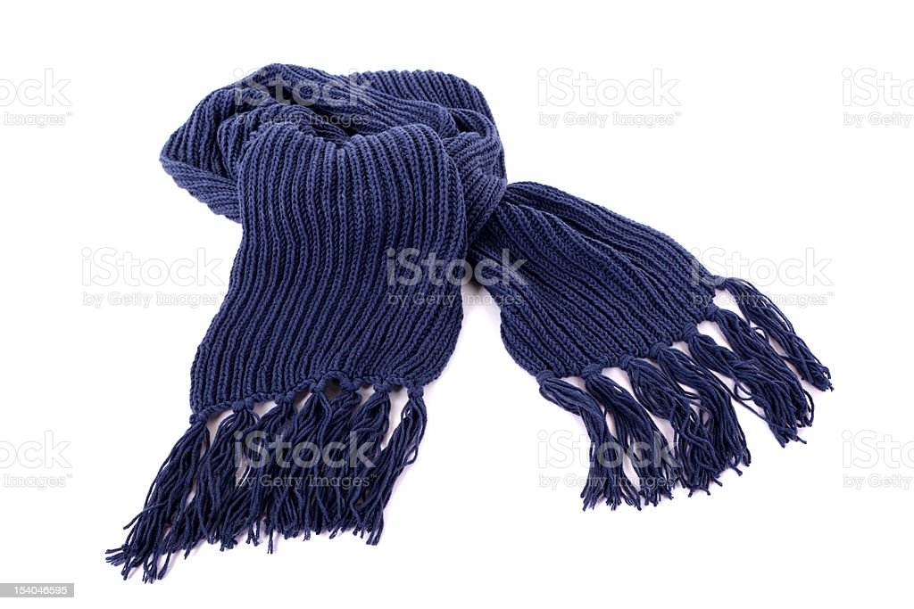 Blue winter scarf stock photo