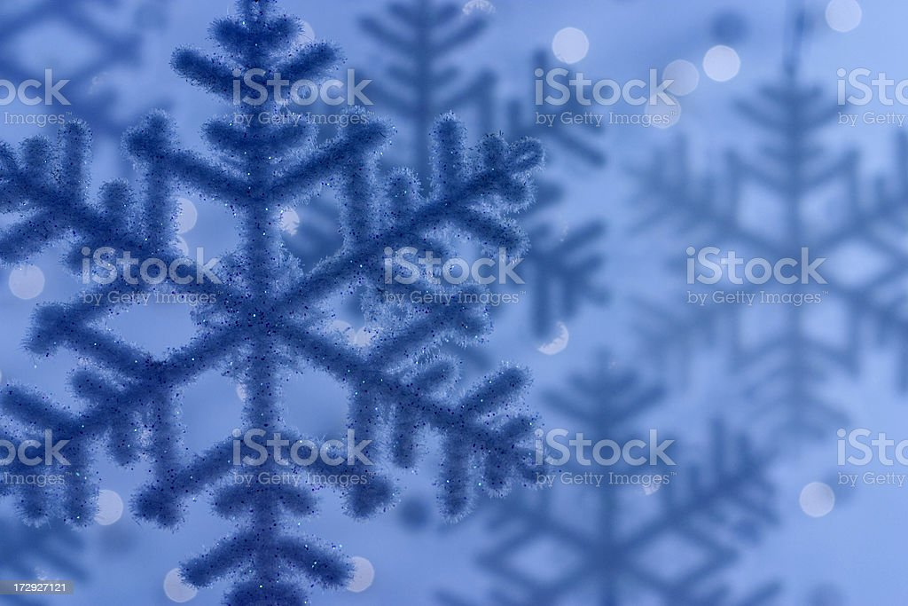 Blue Winter Snowflakes royalty-free stock photo