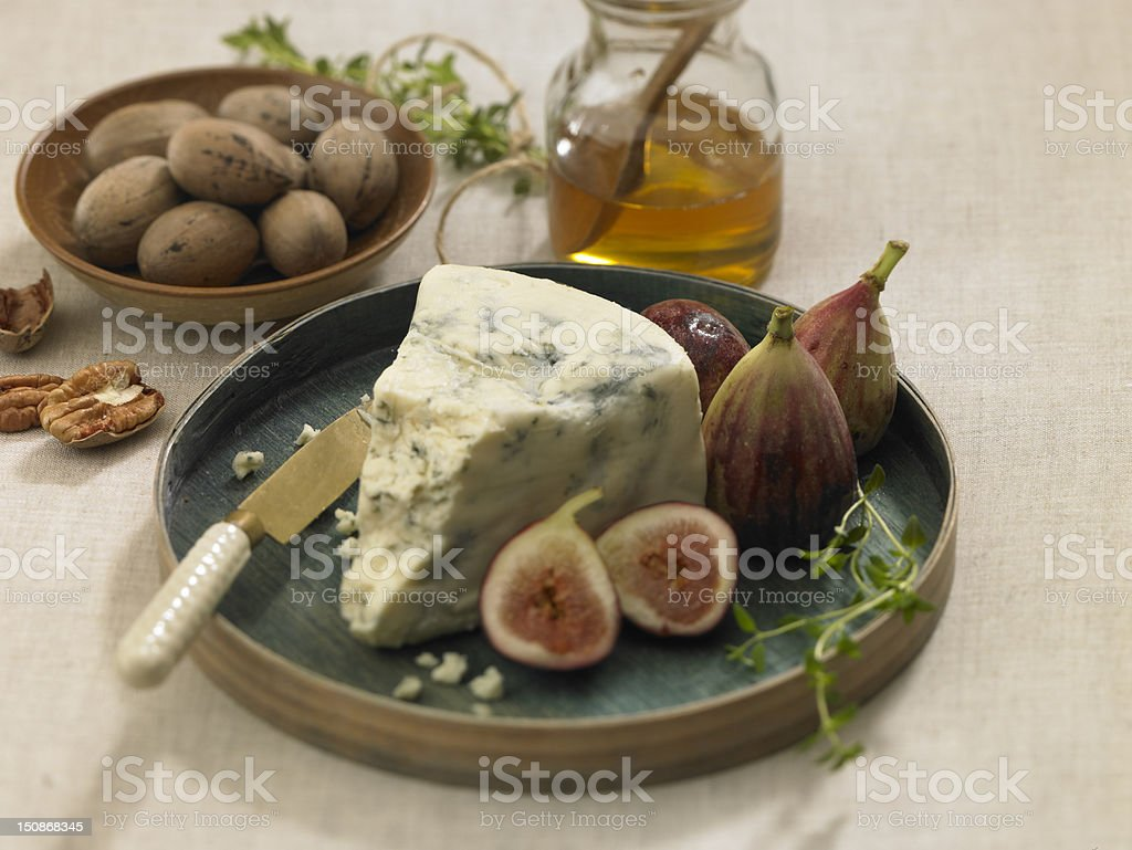 Blue with figs royalty-free stock photo