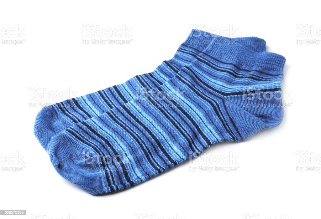 Blue women's socks stock photo