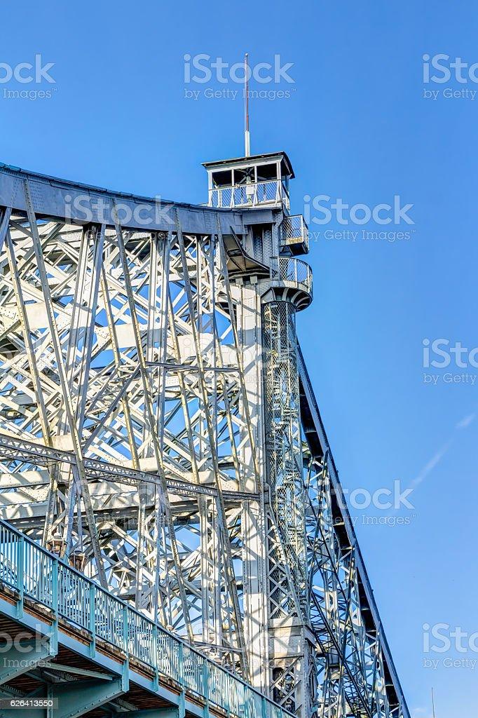 Blue Wonder Bridge stock photo