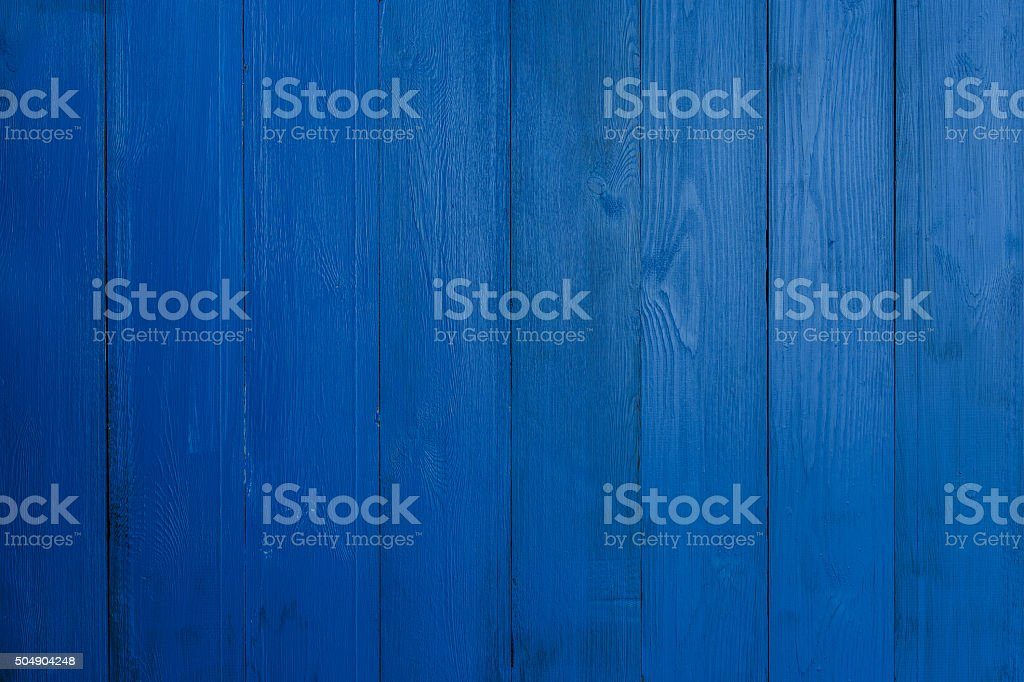 Blue wood textured background stock photo