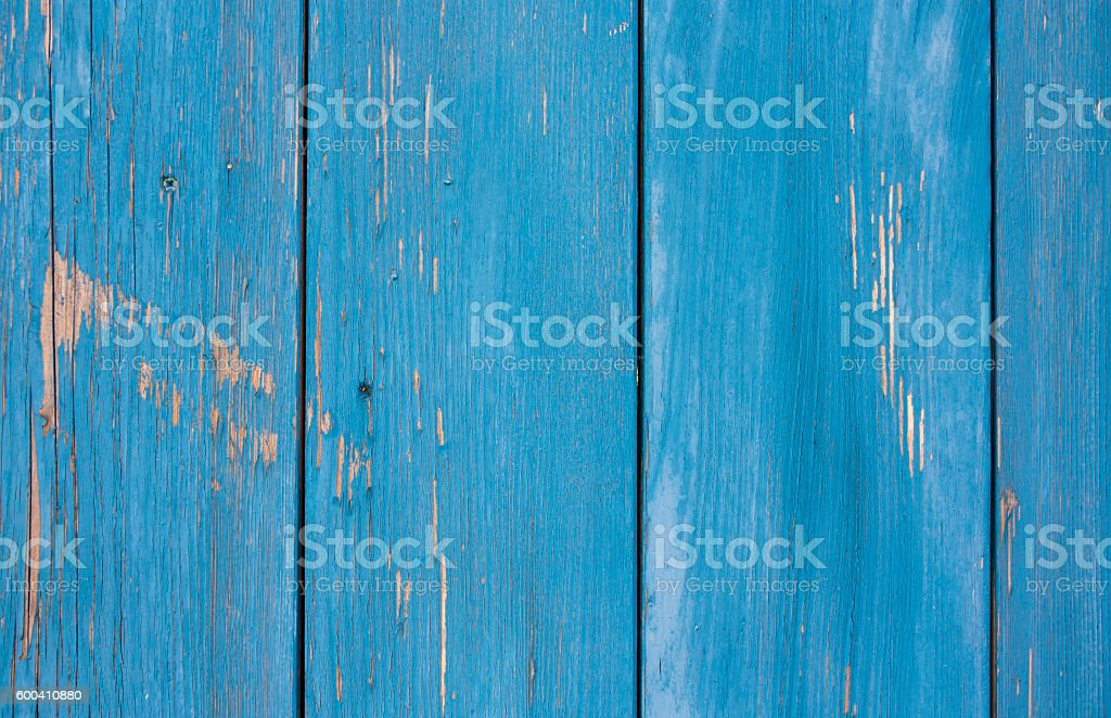 Blue wooden board stock photo