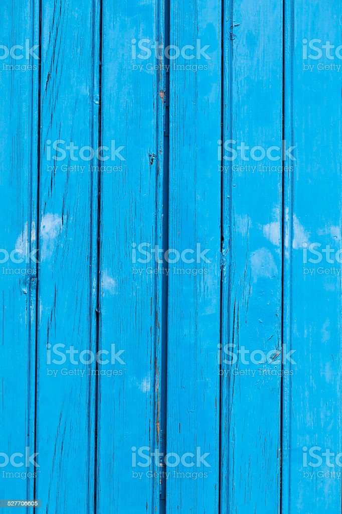 Blue wooden planks surface background stock photo
