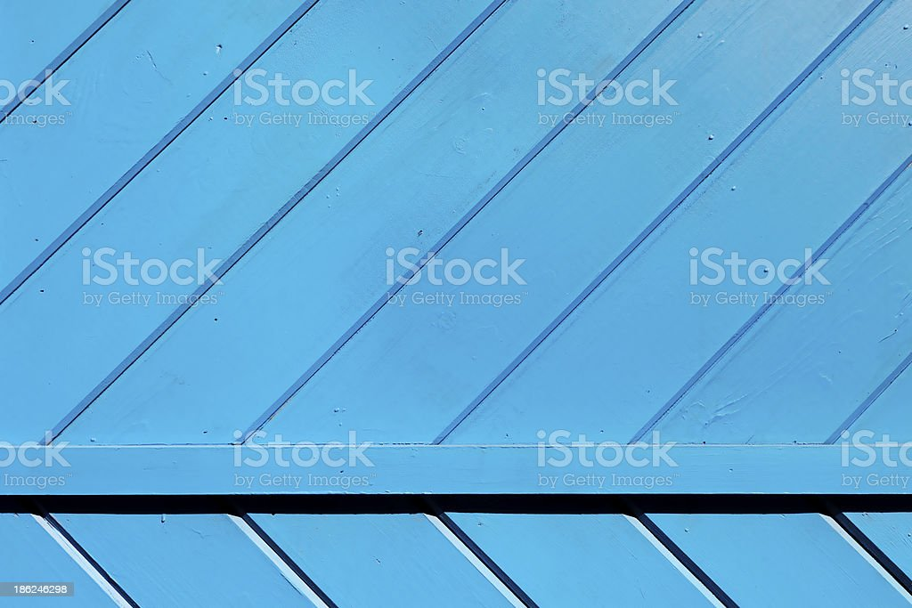 Blue Wooden Slats Background royalty-free stock photo