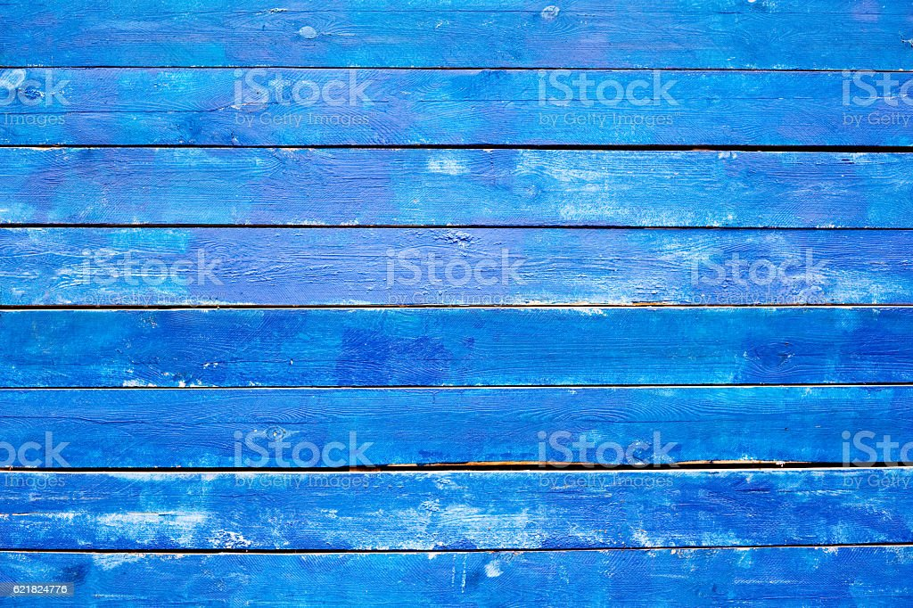 Blue wooden texture stock photo