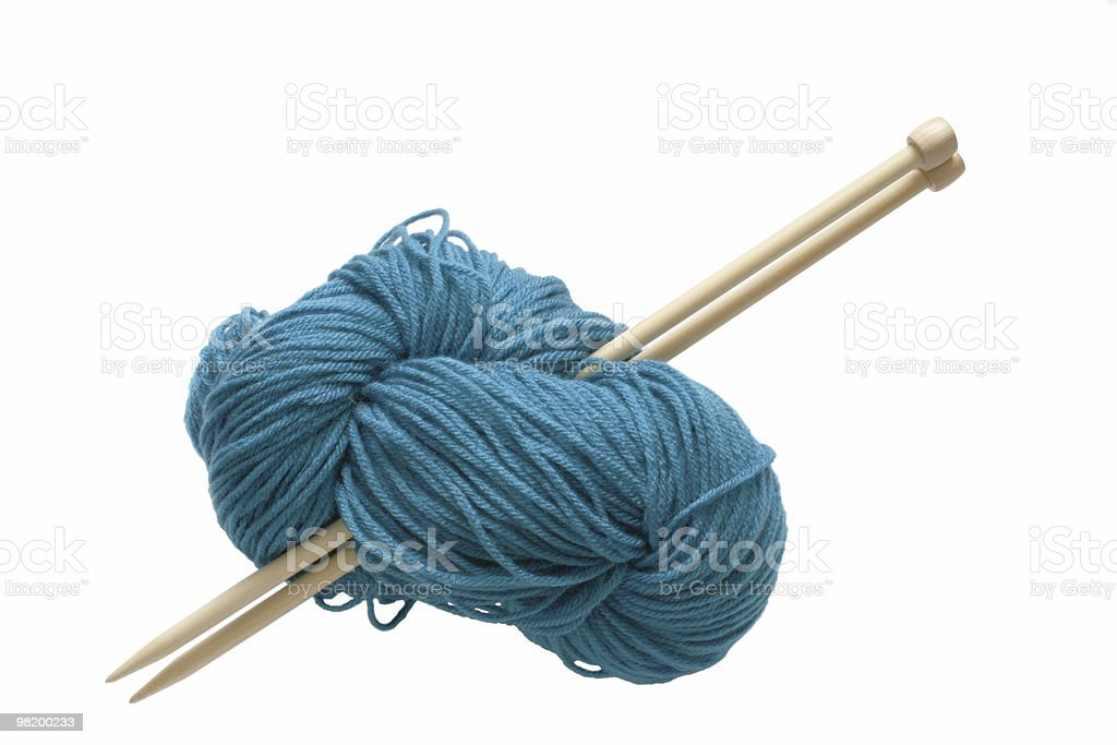 Blue wool royalty-free stock photo