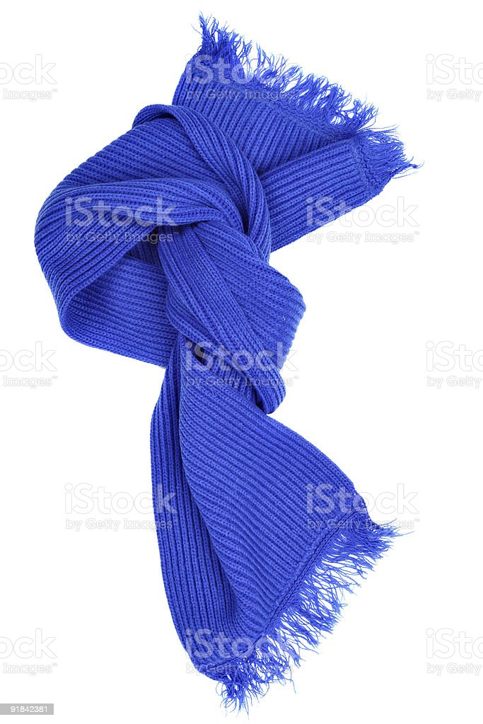 Blue woolen scarf royalty-free stock photo