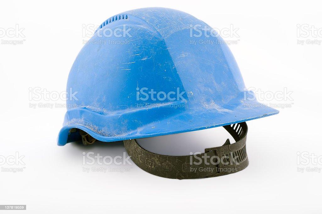 Blue working helmet royalty-free stock photo