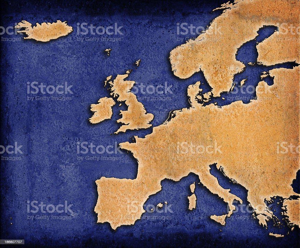Blue World Europe royalty-free stock photo