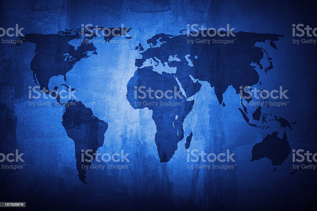 Blue world (request) royalty-free stock photo