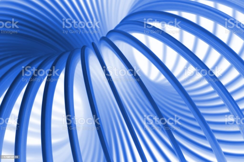 Blue Wormhole royalty-free stock photo