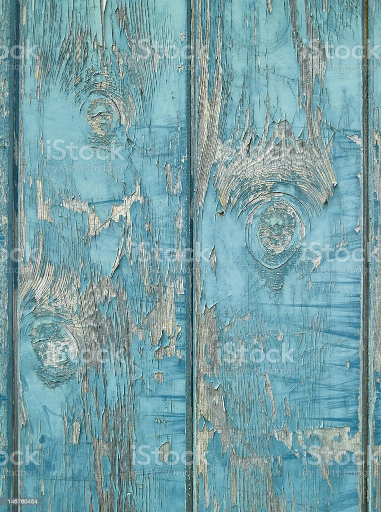Blue Worn Wood stock photo