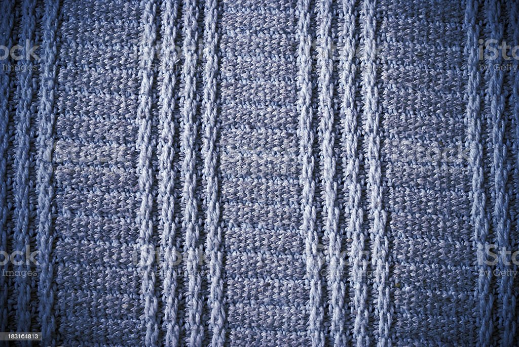 Blue woven striped material background or texture royalty-free stock photo
