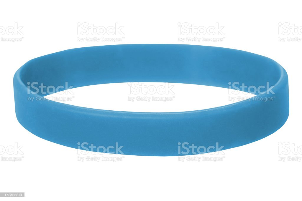 Blue Wristband stock photo