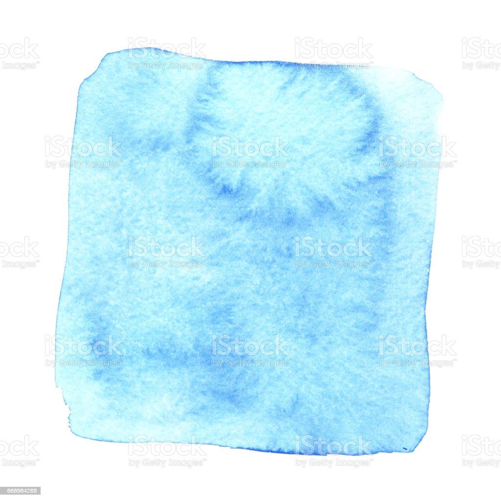 Blue wry watercolor square stock photo