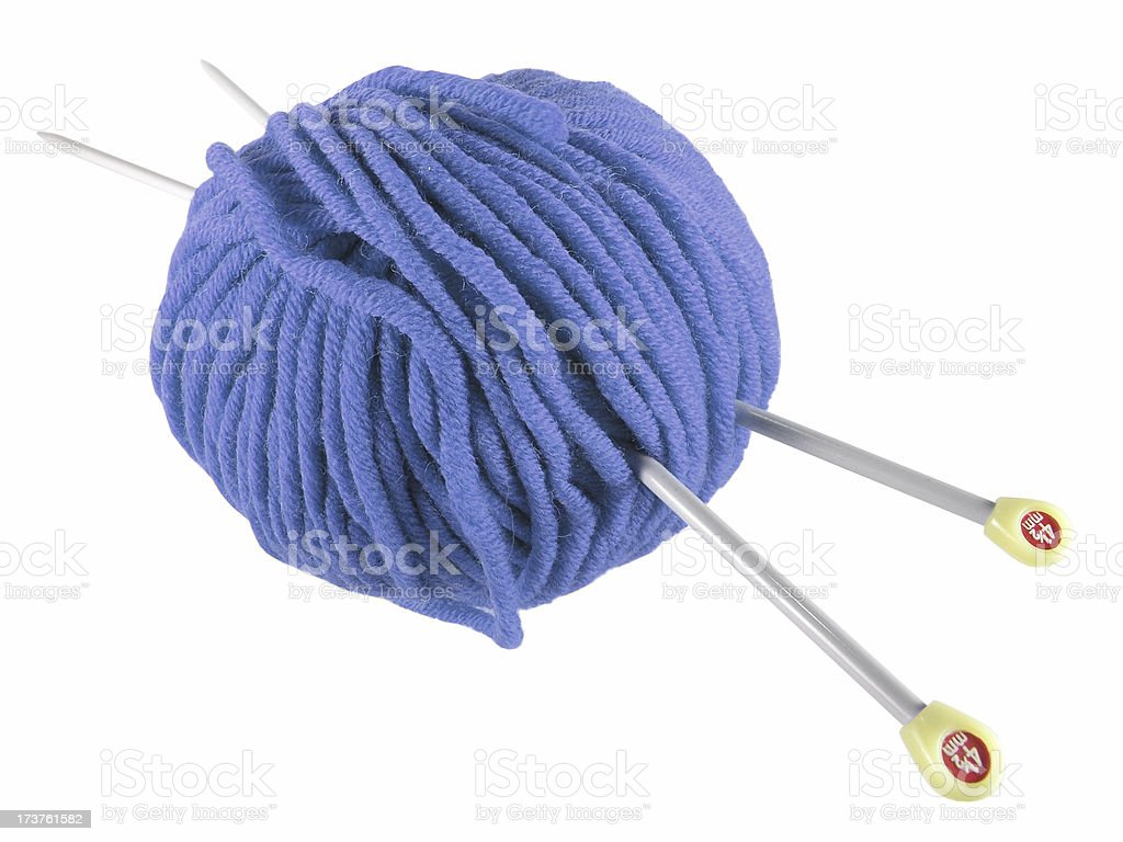 Blue Yarn royalty-free stock photo