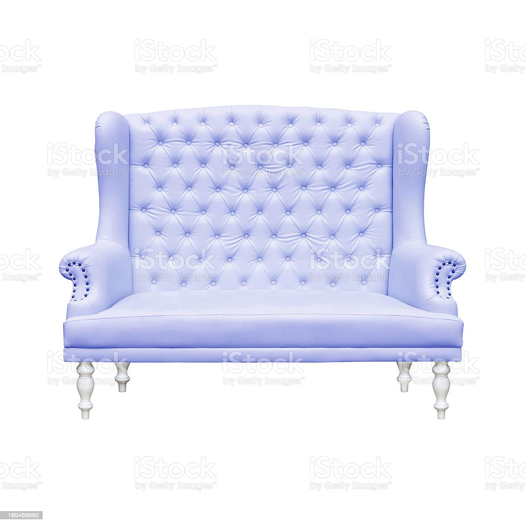 BlueArmchair royalty-free stock photo