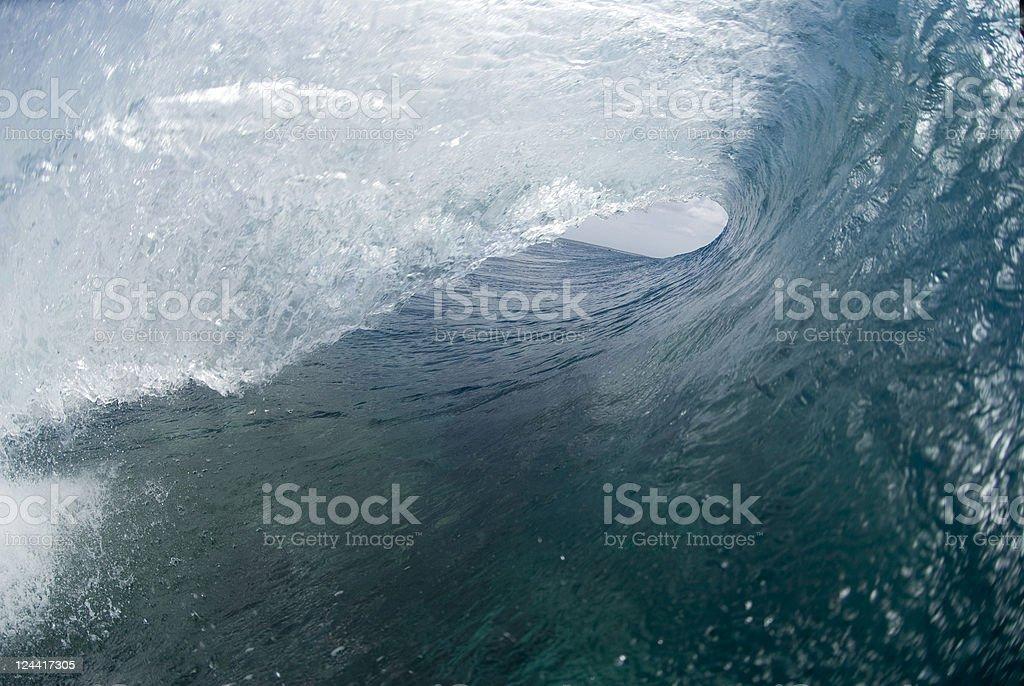 bluebarrelwave stock photo