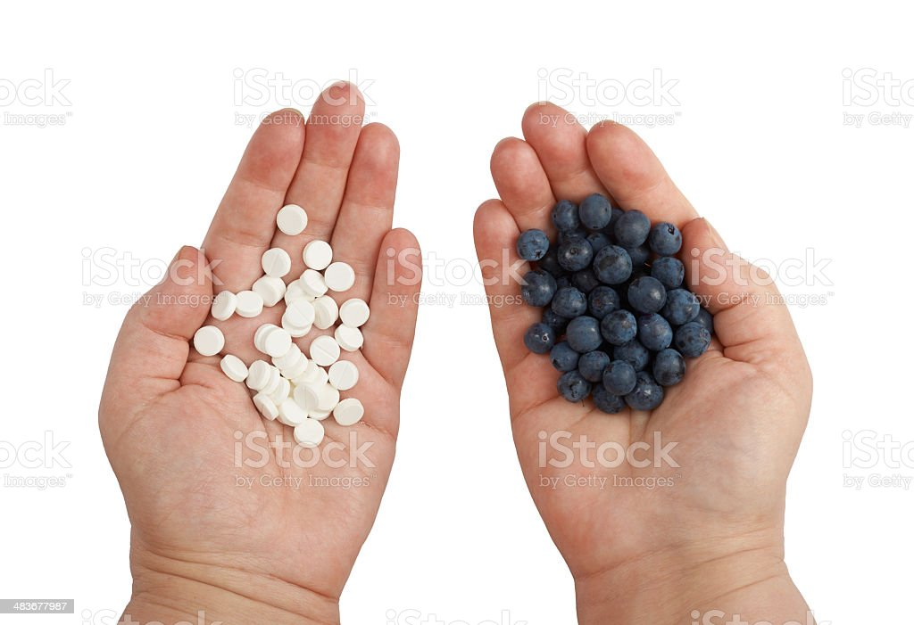 Blueberries and Medicaments royalty-free stock photo