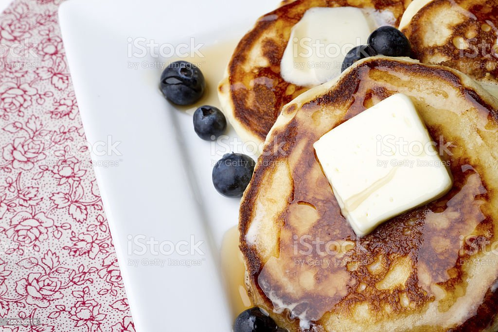 Blueberries and Pancakes royalty-free stock photo