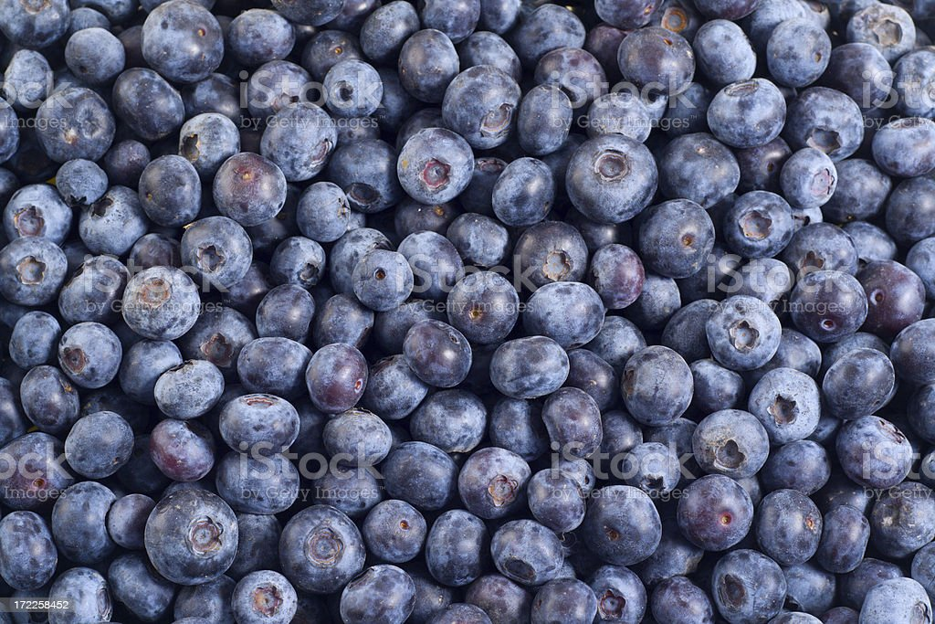 Blueberries— Healthy Fruit Food Texture Pattern Background for Eating Fresh royalty-free stock photo