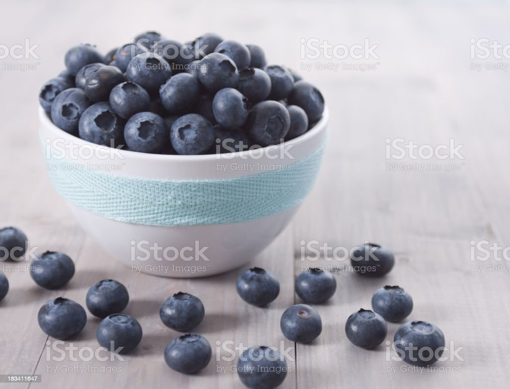 Blueberries in a Bowl royalty-free stock photo