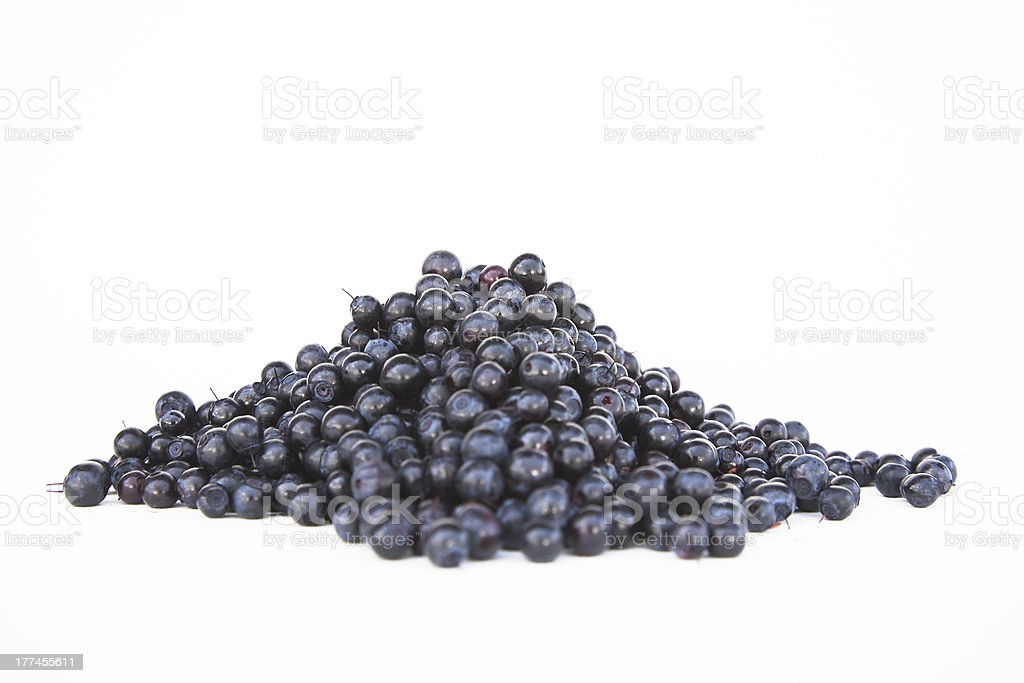Blueberries in a pile. stock photo