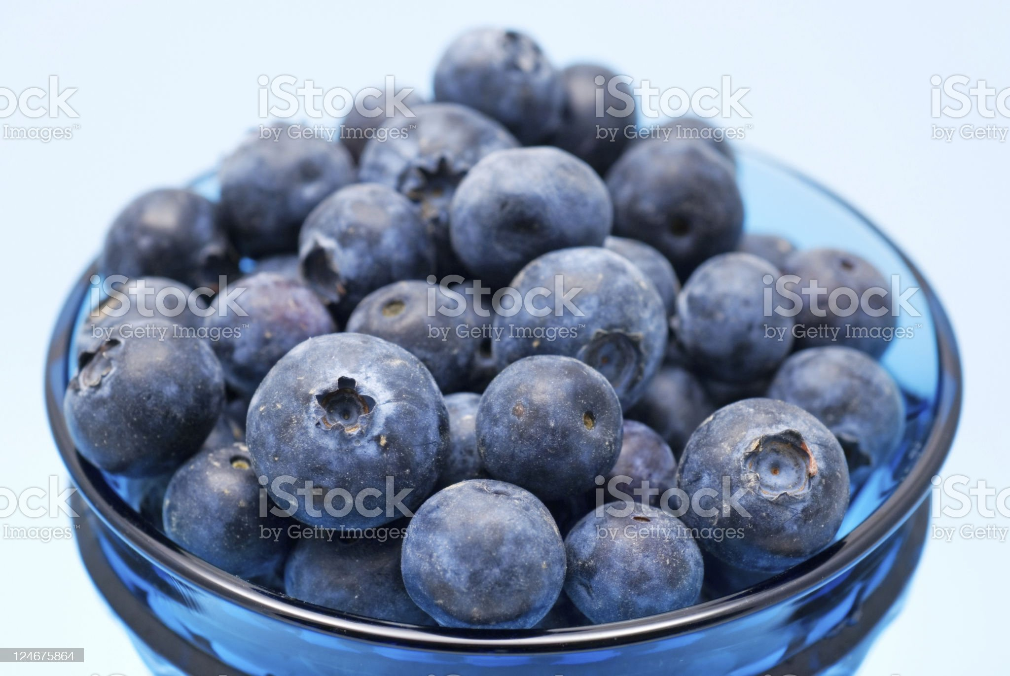Blueberries in vintage glassware royalty-free stock photo