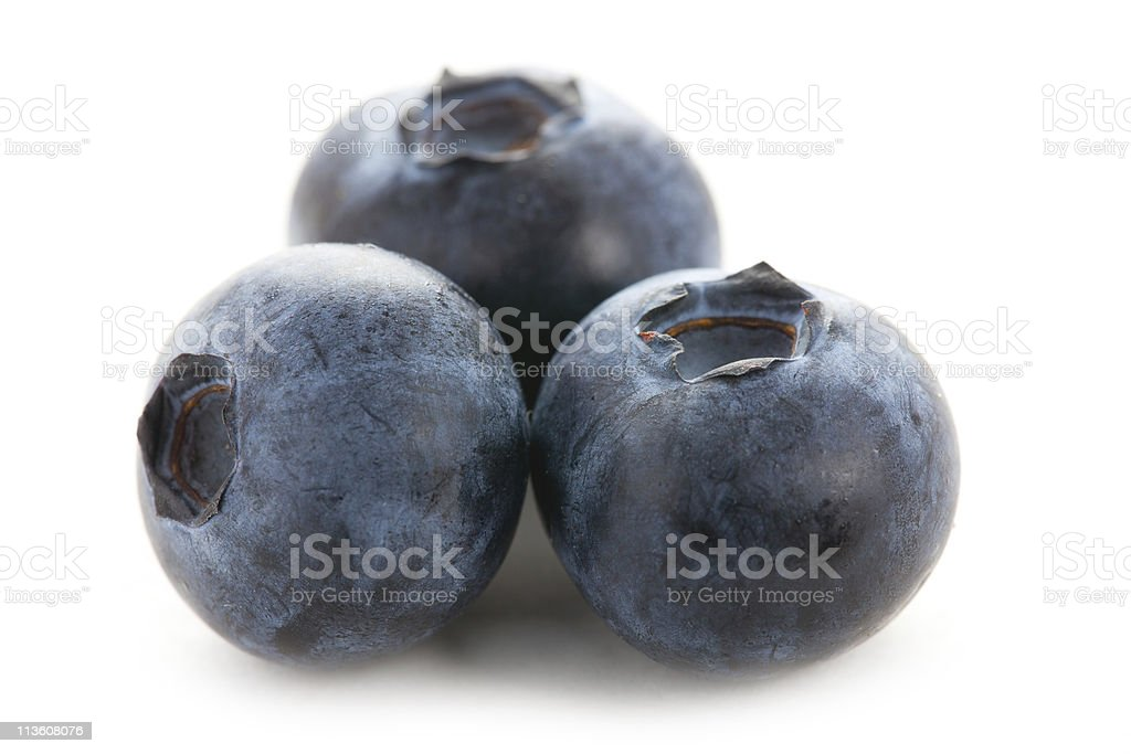 blueberries isolated on white background royalty-free stock photo
