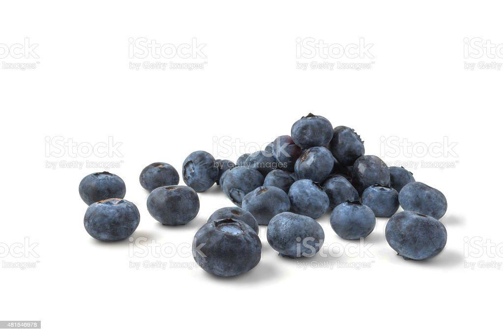 blueberries isolated on white background stock photo